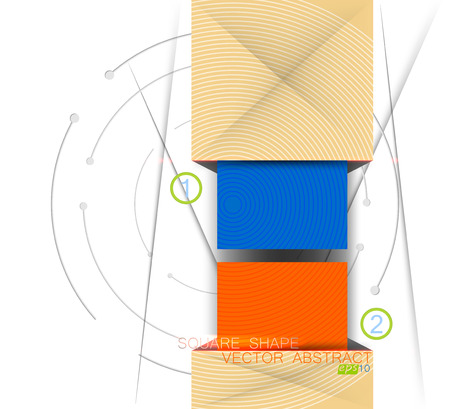 square shape: Colors square shape scene vector concepts on a white background Illustration