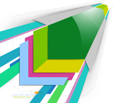 square abstract: Square abstract colors scene vector on a white background Illustration