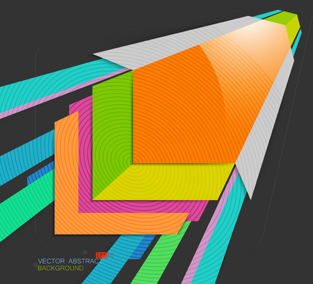 square shape: Square shape colors vector concepts on a gray background
