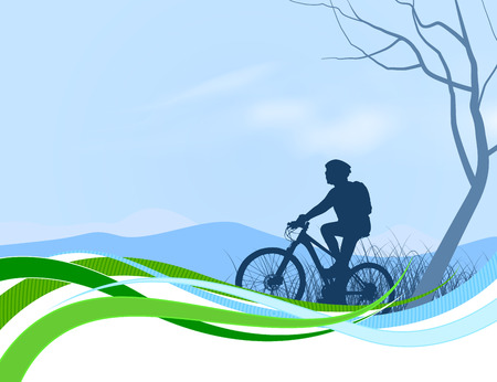 life style people: Cycling scene nature landscape abstract background