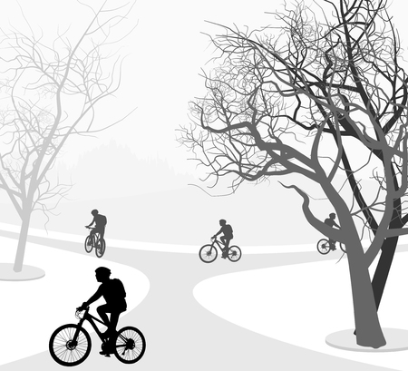 outdoor sports: Cycling outdoor sports nature landscape background