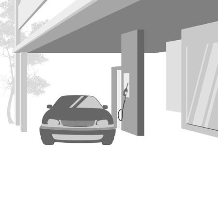 petroleum: Gas station service petroleum background