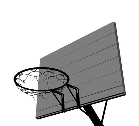 basketball hoop: Basketball hoop silhouette on a white background Illustration