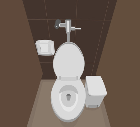 flush toilet: Flush toilet interior scene background