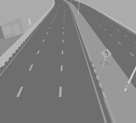 underpass: Road underpass vector transportation background Illustration