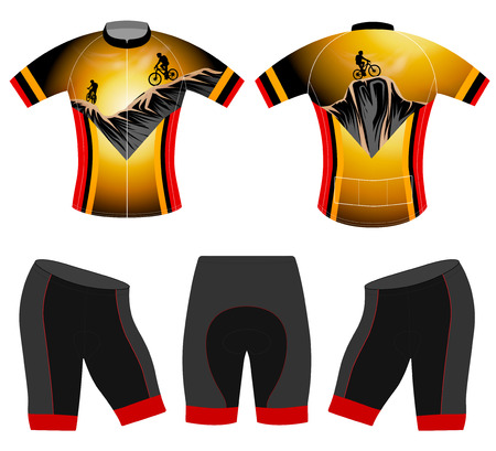 extreme sports: Extreme sports t-shirt cycling vest vector on a white background