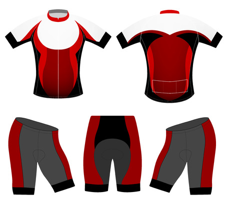Cycling clothing cycling vest fashion design on a white Illustration