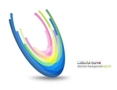 Colorful glossy concave scene vector concepts on a white background