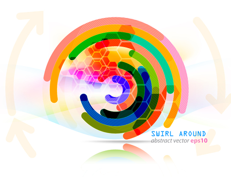 Abstract arrows swirl shape scene vector concepts on a white background Illustration