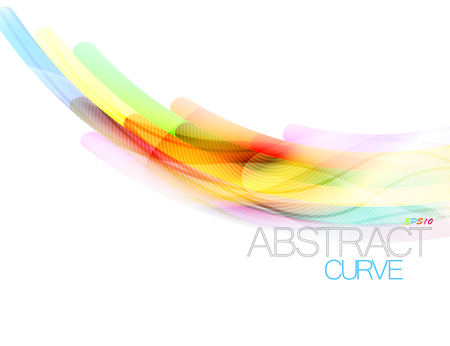 Abstract curve scene motion vector on a white background