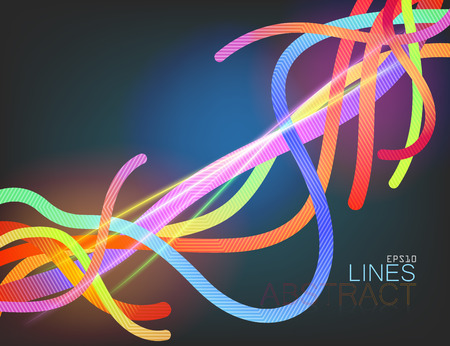 Abstract lines colors vector template
