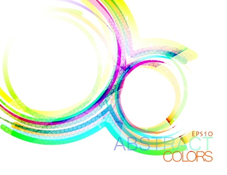 Beautiful concave colors vector abstract on a white background