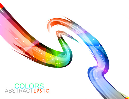Glossy colors on a white vector abstract background Illustration