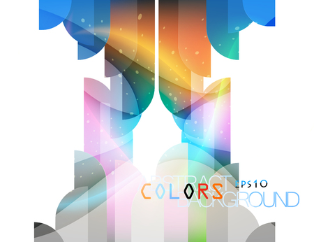 Glittering shape colors abstract vector
