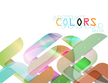 Transparent shape colors vector modern style on a white background