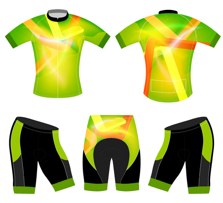 jersey: Translucent colors sports t-shirt vector  cycling vest design on a white background