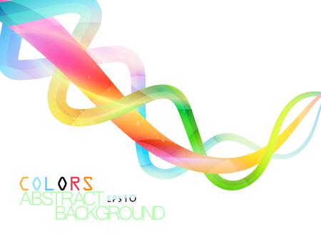 concave: Beautiful swirling colors scene vector abstract on a white background