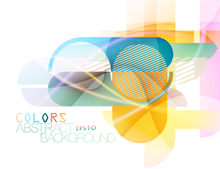 concave: Abstract colorful round and corner scene vector concepts Illustration