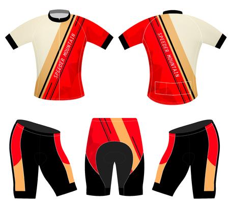speeder: Cycling vest speeder mountain vector sports t-shirt design on a white background