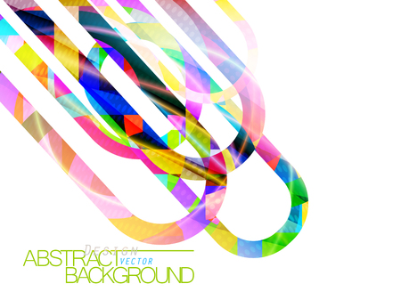 Abstract colors concave scene vector design on a white background Çizim