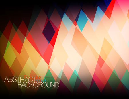Abstract translucent colors square shape vector wallpaper background