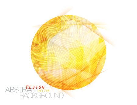 Abstract translucent yellow colors circle scene vector design wallpaper on a white background
