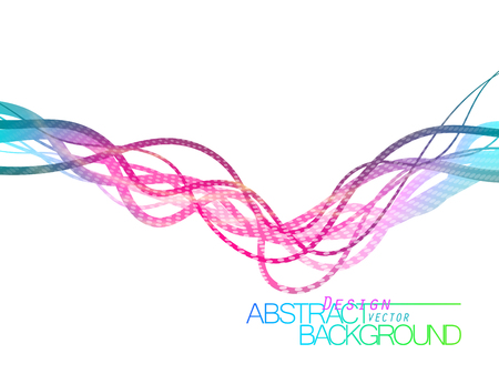 Abstract colorful flow scene vector design wallpaper on a white background Çizim
