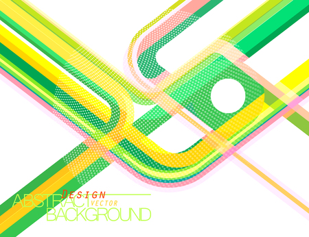 Abstract green concave scene vector wallpaper on a white background Illustration