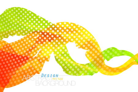 Translucent colors brush scene vector abstract wallpaper on a white background.