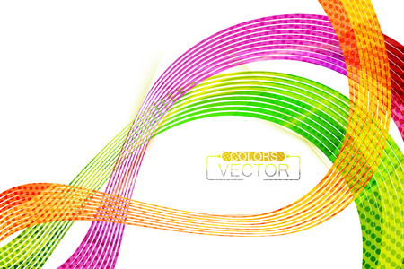 Abstract colors lines shape scene vector wallpaper on a white background Illustration