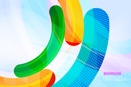 Abstract colors curve scene vector wallpaper background Çizim