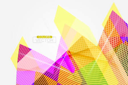 Translucent colors shape scene vector abstract wallpaper background