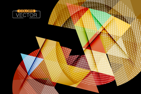Triangle geometric shape scene vector abstract wallpaper on a black background