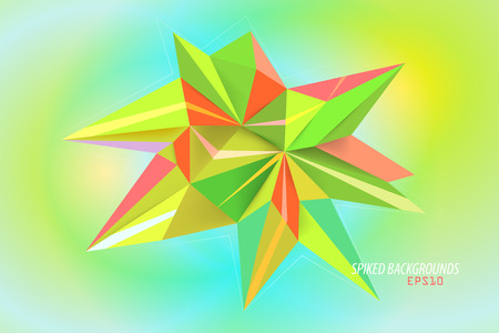Spiked colors  abstract wallpaper background