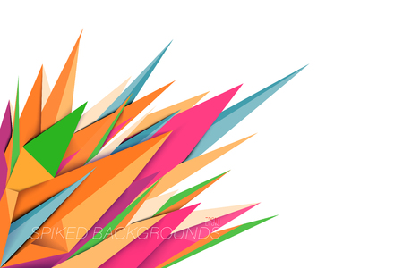 Spiked shape colors vector abstract wallpaper on a white background