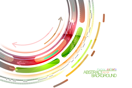 Curvy color on a white vector abstract background Illustration