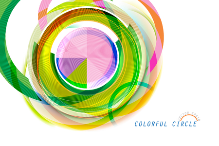 Colorful circle shape scene vector abstract wallpaper on a white background