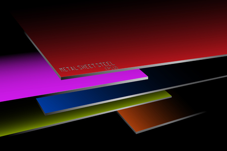 Metal sheet steel stacked colors vector abstract wallpaper backgrounds