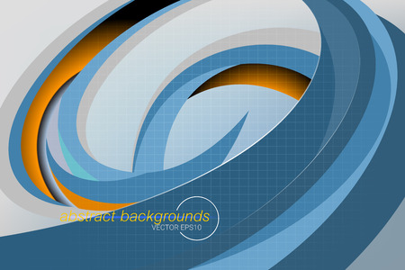 Swirling shapes scene vector abstract wallpaper backgrounds Illustration