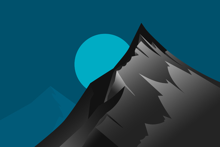 Highest mountain scene vector wallpaper nature landscape backgrounds