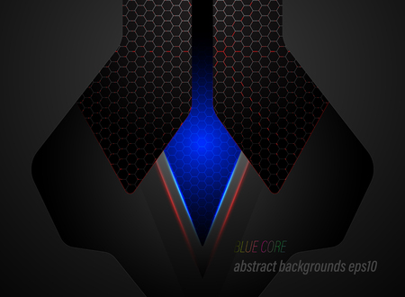Blue core lighting scene vector abstract wallpaper backgrounds