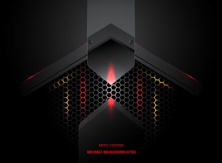 Abstract metal lighting in dark scene vector wallpaper backgrounds