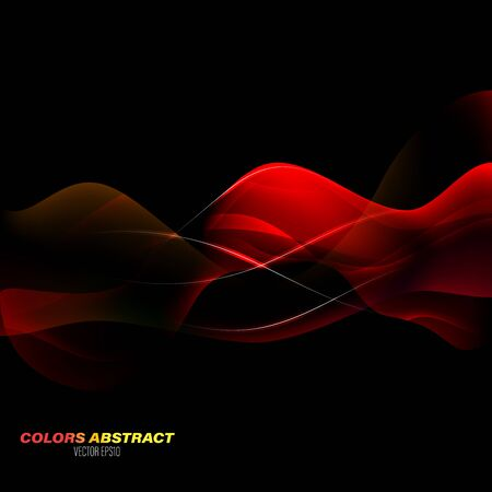 Translucent red colors abstract scene vector graphics wallpaper background Çizim