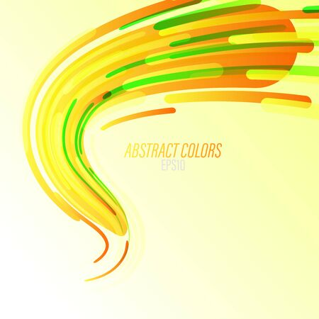 Abstract colors curved on a green scene vector wallpaper backgrounds
