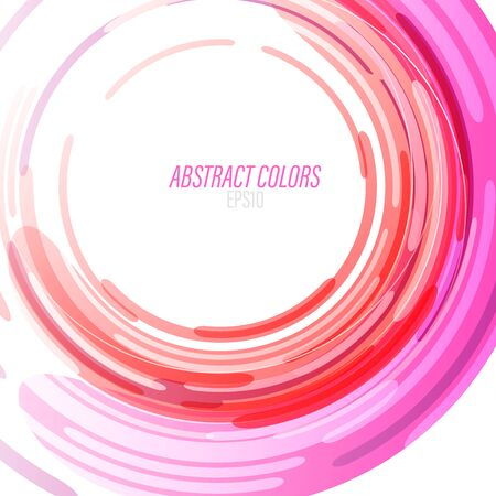 Abstract colors swirl on a white scene vector wallpaper backgrounds Çizim