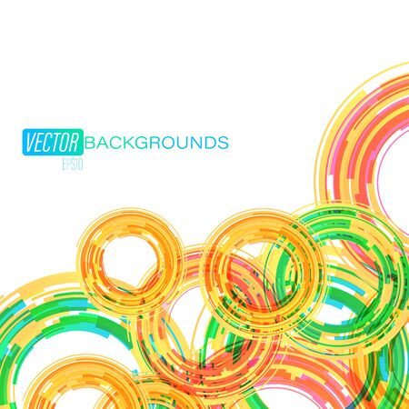 Colorful circular on a white scene vector abstract wallpaper backgrounds