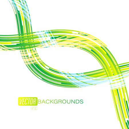 Green colors bright scene vector abstract wallpaper on a white backgrounds Illustration