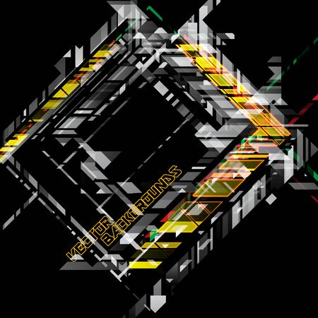 Abstract colors geometric shapes on a black vector wallpaper backgrounds