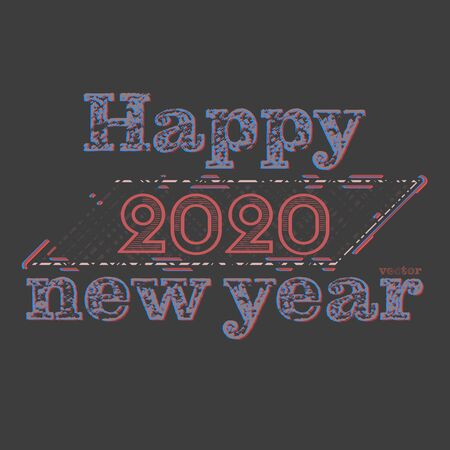 Happy new year 2020 vector concepts wallpaper on a gray background Фото со стока - 131918709