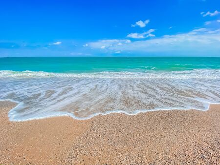 Blue and ocean waves nature scene tropical island background Stock fotó